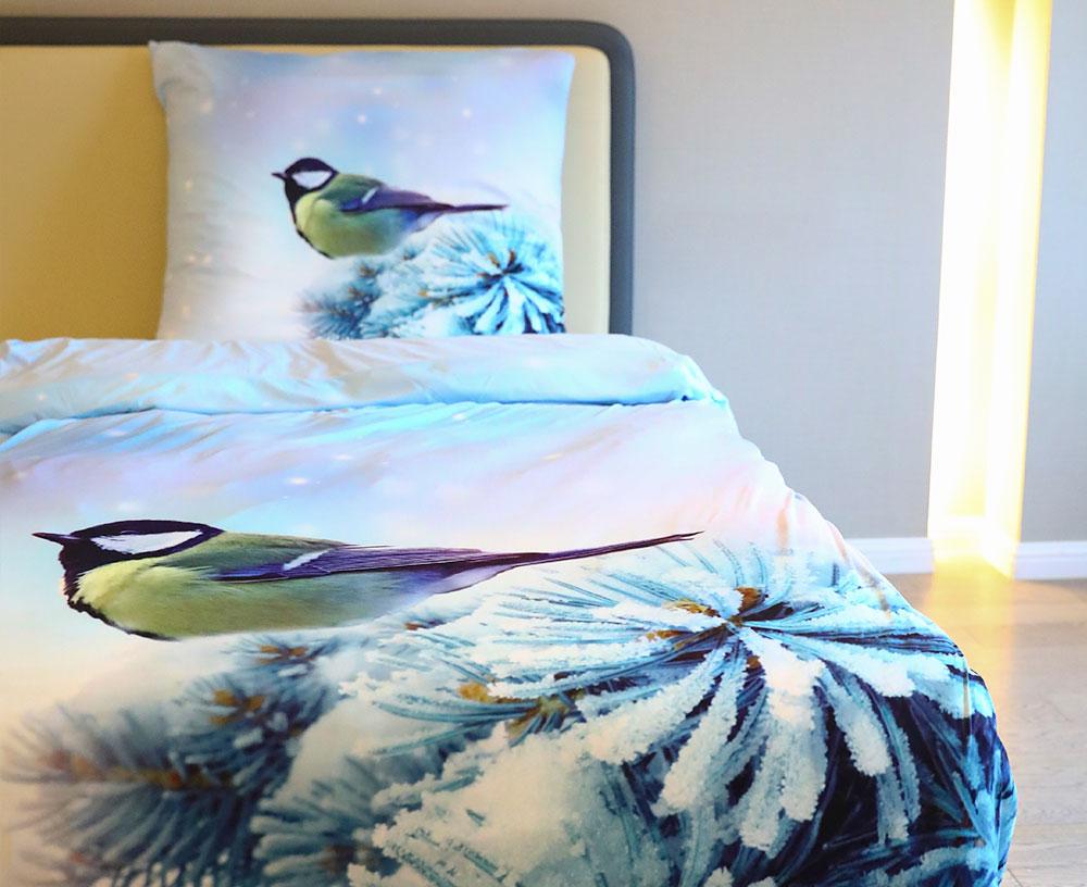 Juego de cama de microfibra con impresión en color