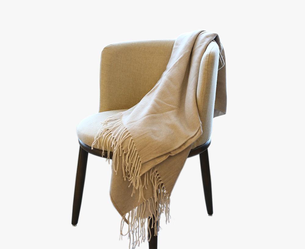 Manta borla de lana